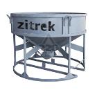 Бадья для бетона ZITREK БН-2,0 (021-1068-1) (люлька, воронка, лоток) низкая