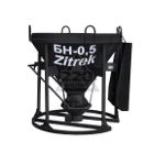 Бадья для бетона ZITREK БНу-0,5 (021-0960) (воронка, лоток)