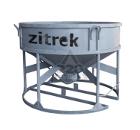 Бадья для бетона ZITREK БНу-1.5 (021-1013-1) (воронка, лоток) низкая