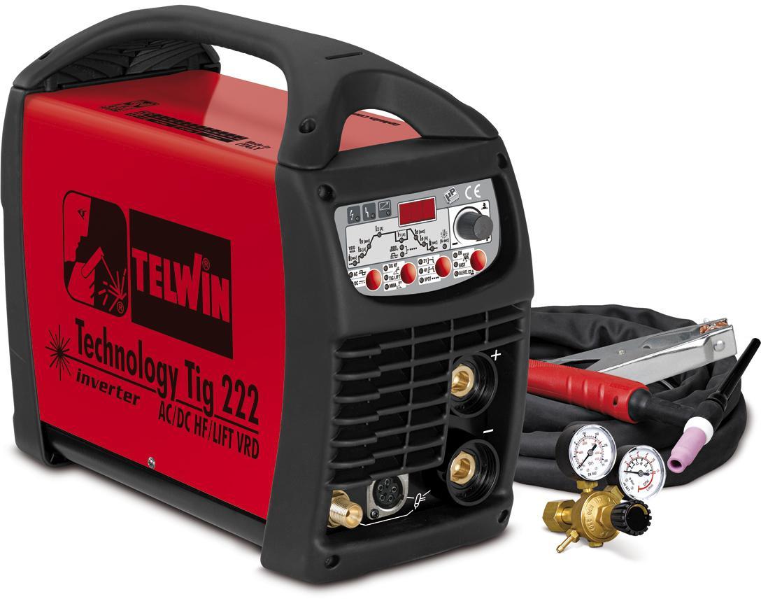 Купить Сварочный аппарат Telwin Technology tig 222 ac/dc hf/lift vrd + tig acc (852054)