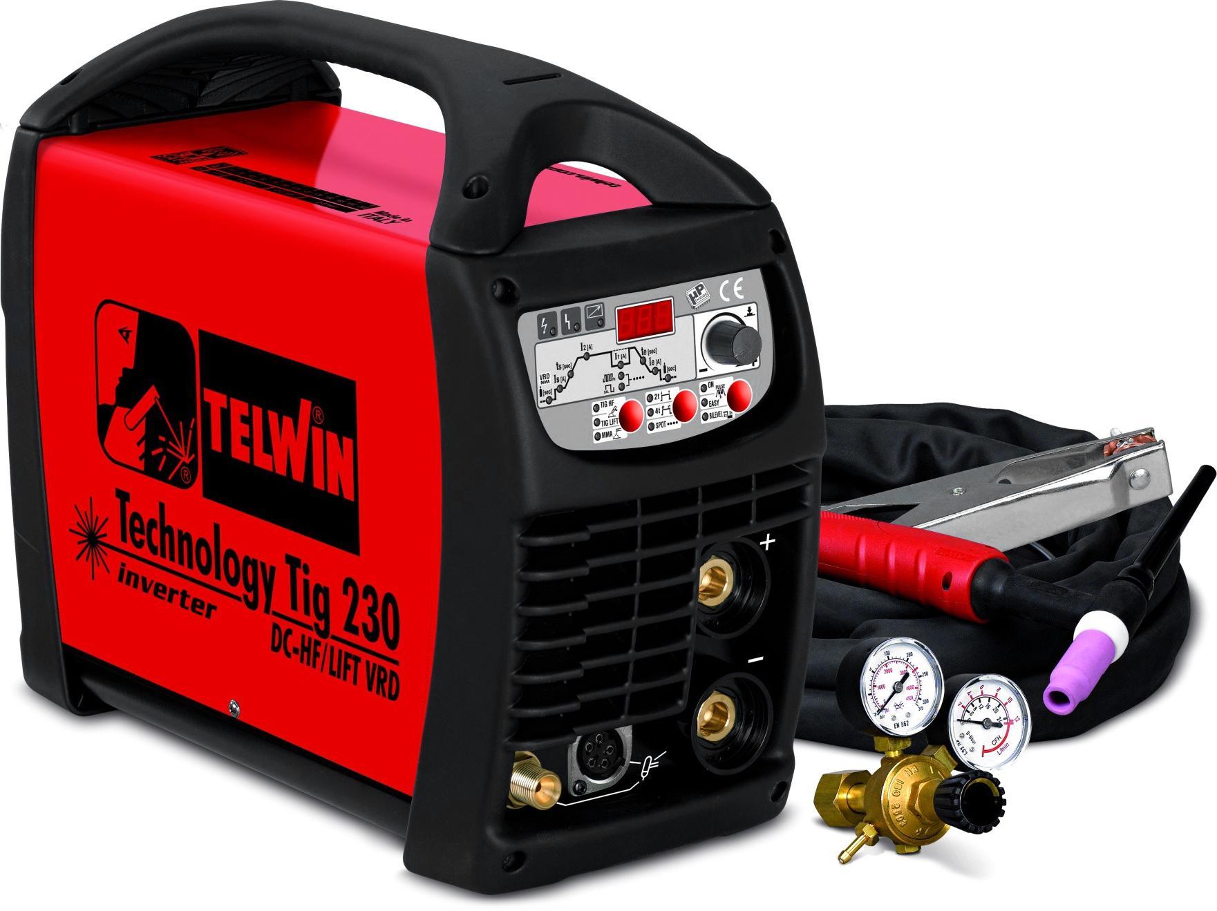 Сварочный аппарат Telwin Technology tig 230 dc-hf/lift vrd 230v + tig acc (852055)