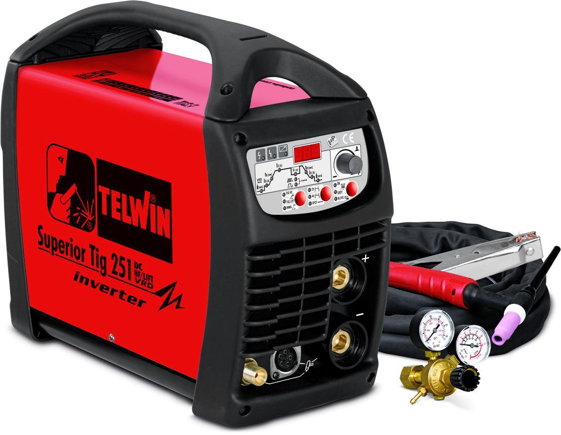 Купить Сварочный аппарат Telwin Superior tig 251 dc-hf/lift vrd 400v + tig acc (816116)