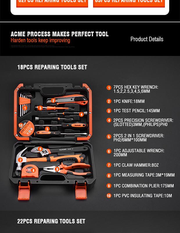 Набор инструментов Harden 511018