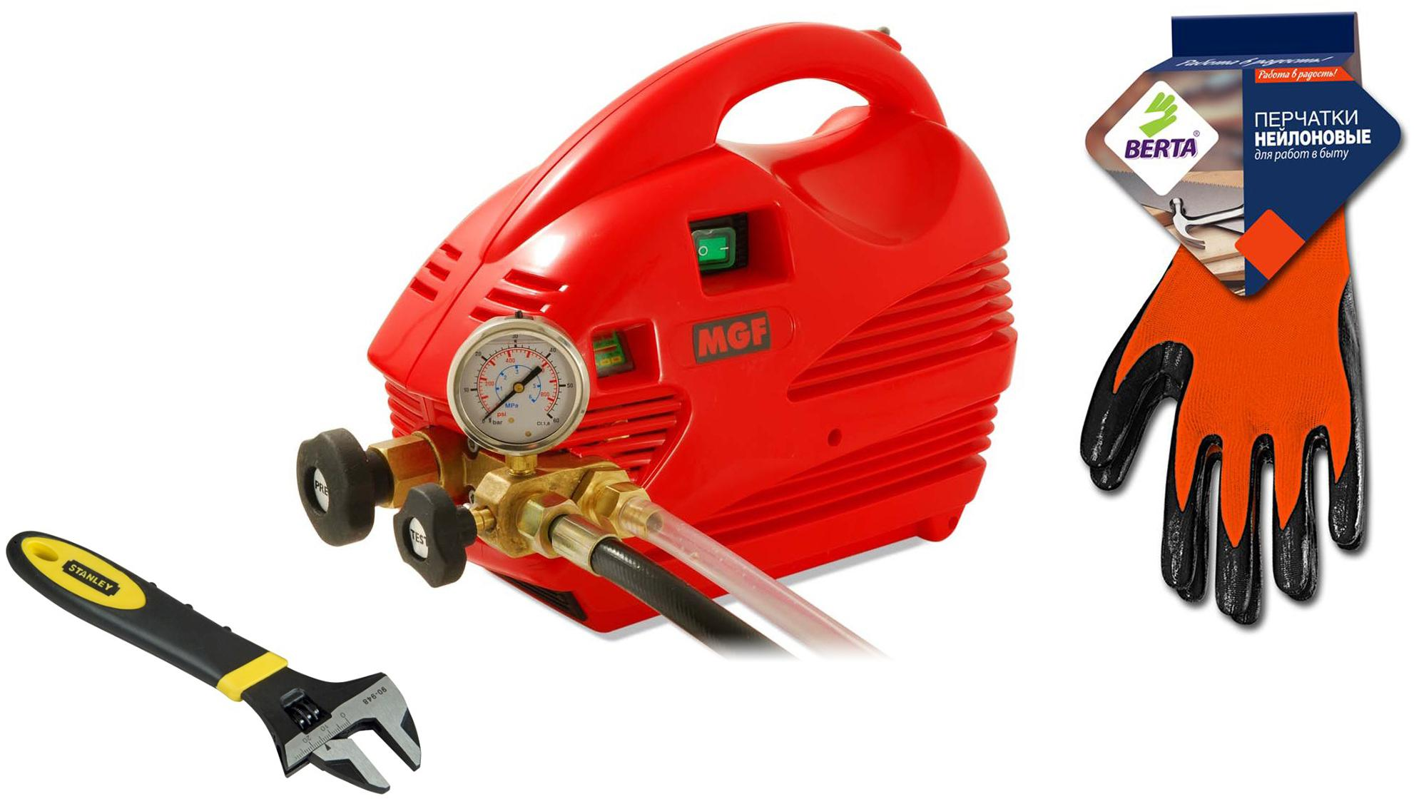 Набор Mgf Опрессовщик compact 60 905200 +Ключ maxsteel 0-90-948 (0 - 24 мм) +Перчатки 280