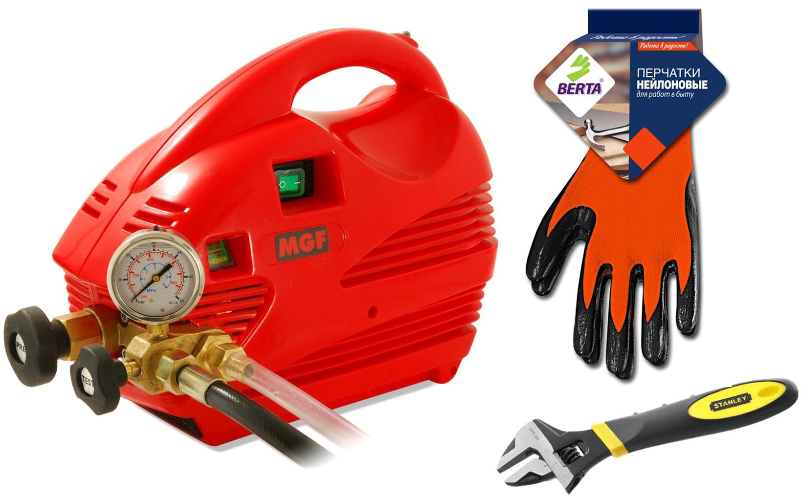 Набор Mgf Опрессовщик compact 60 905200 +Ключ 'maxsteel'' 0-90-947 (0 - 24 мм) +Перчатки 280