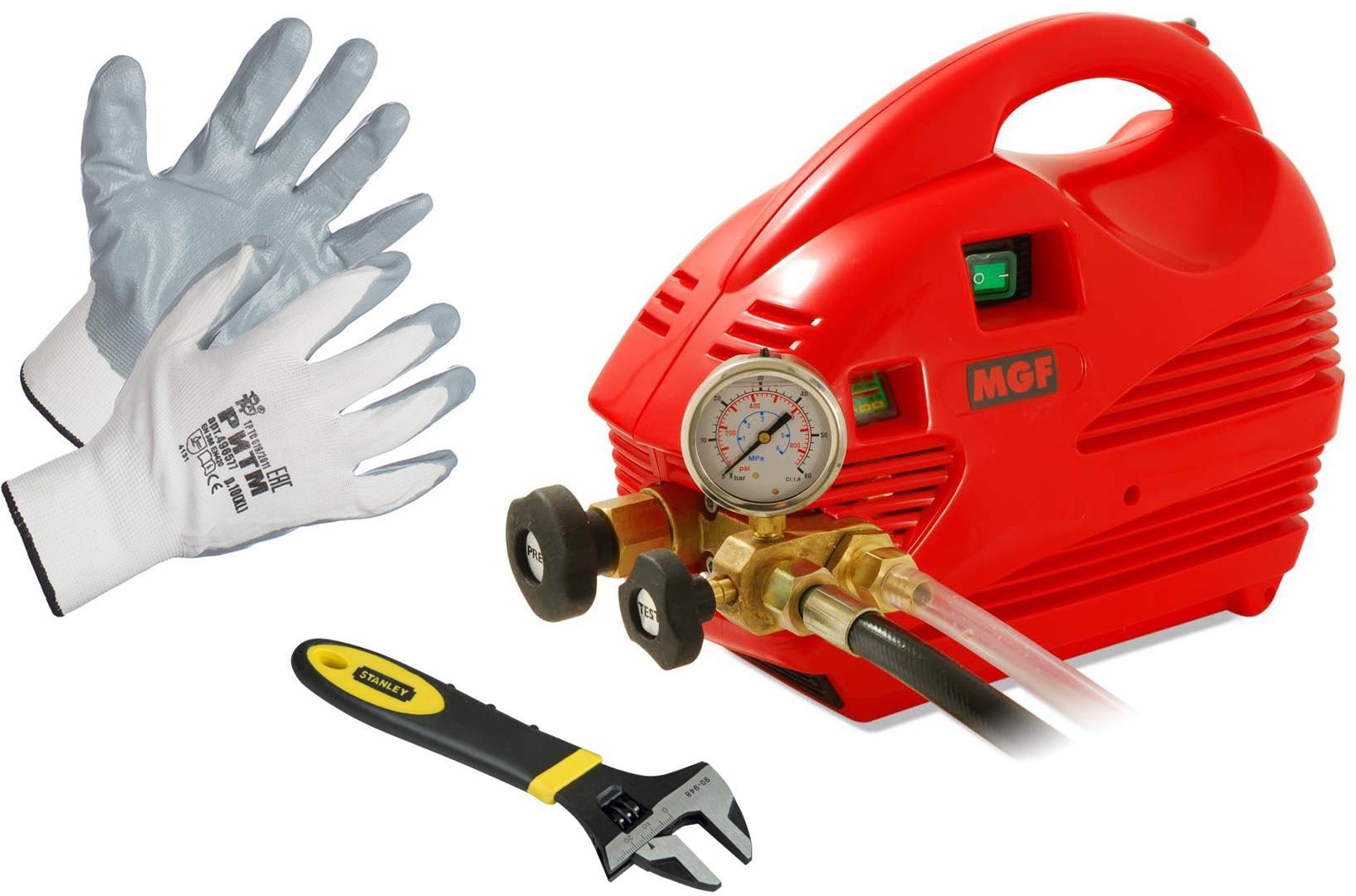 Набор Mgf Опрессовщик compact 60 905200 +Ключ maxsteel 0-90-948 (0 - 24 мм) +Перчатки 496577