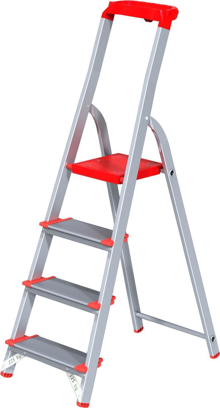 Фото - Стремянка НОВАЯ ВЫСОТА 5150104 лестница трансформер шарнирная профи 4 секции по 4 ступени 1 алюмет