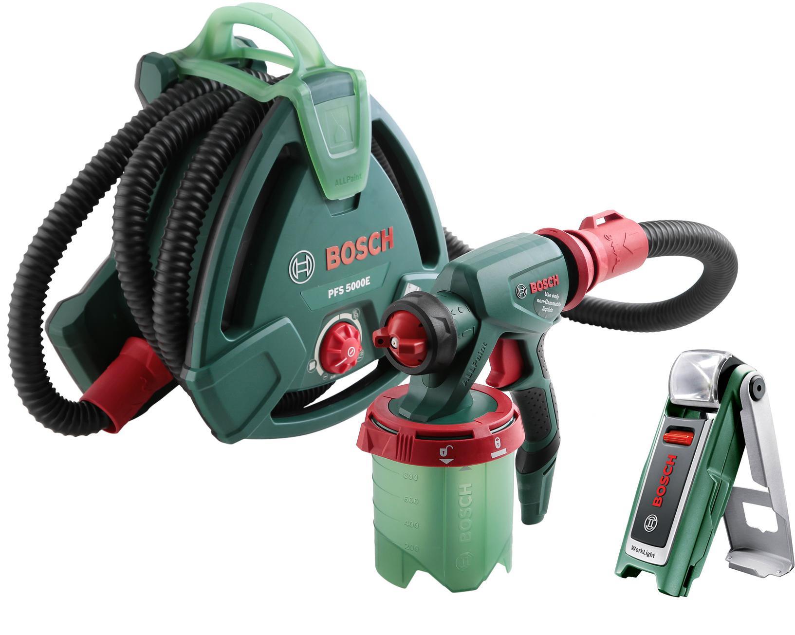 Набор Bosch Краскопульт pfs 5000 e (0.603.207.200) +Фонарь 0603975801