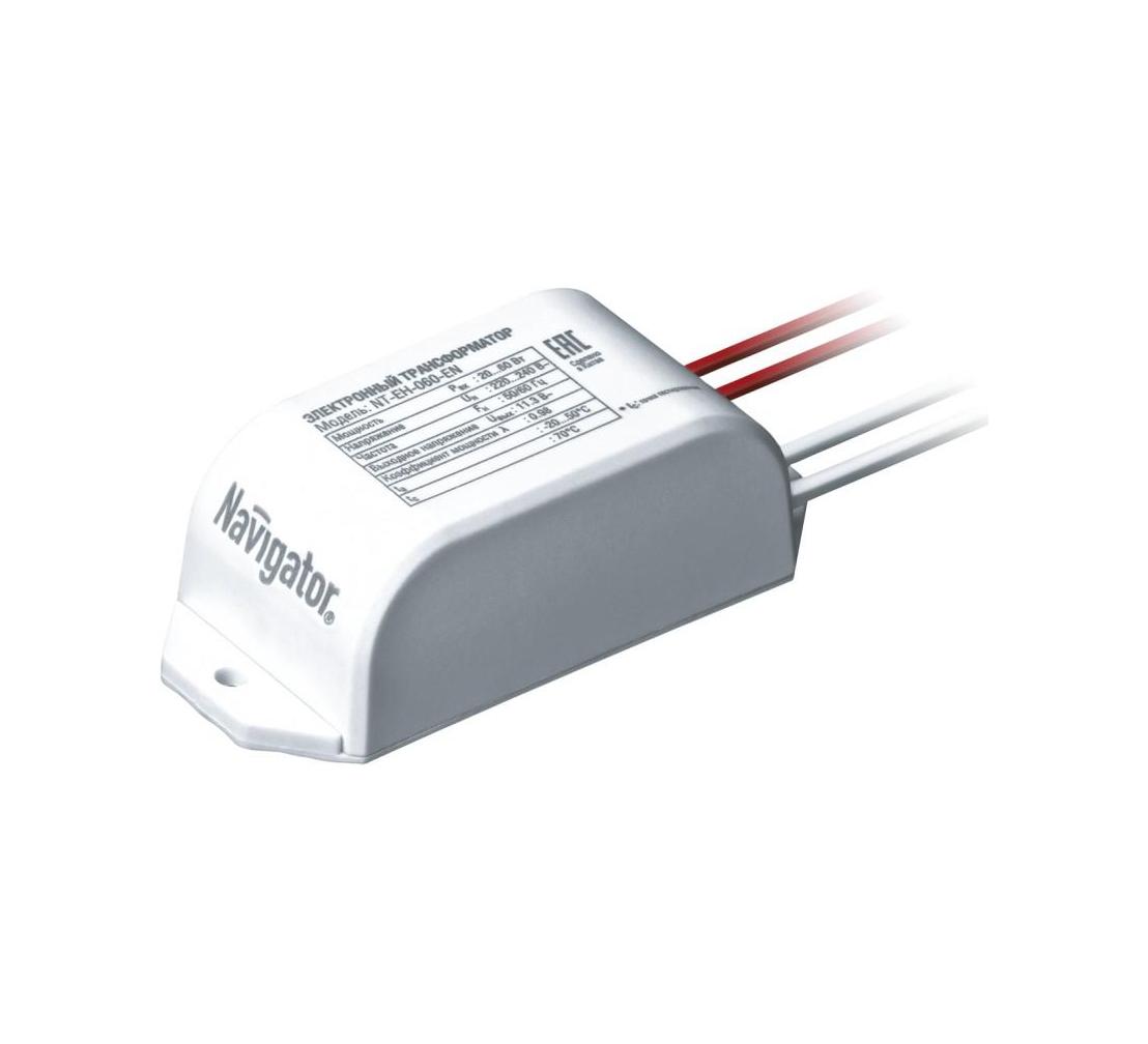 Электронный трансформатор 220/12В 60 Вт NAVIGATOR 94 432 NT-EH-060-EN