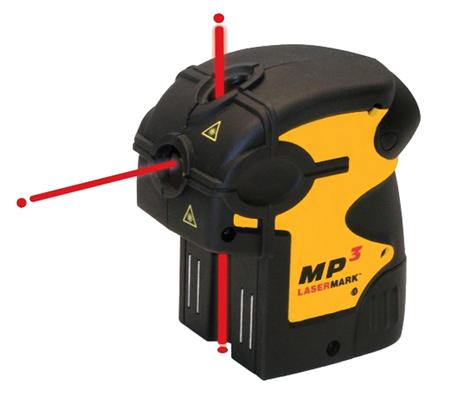 Лазерный нивелир MP3 CST/Berger - 3-лучевой лазерный отвес с магнитным универсальным креплением.