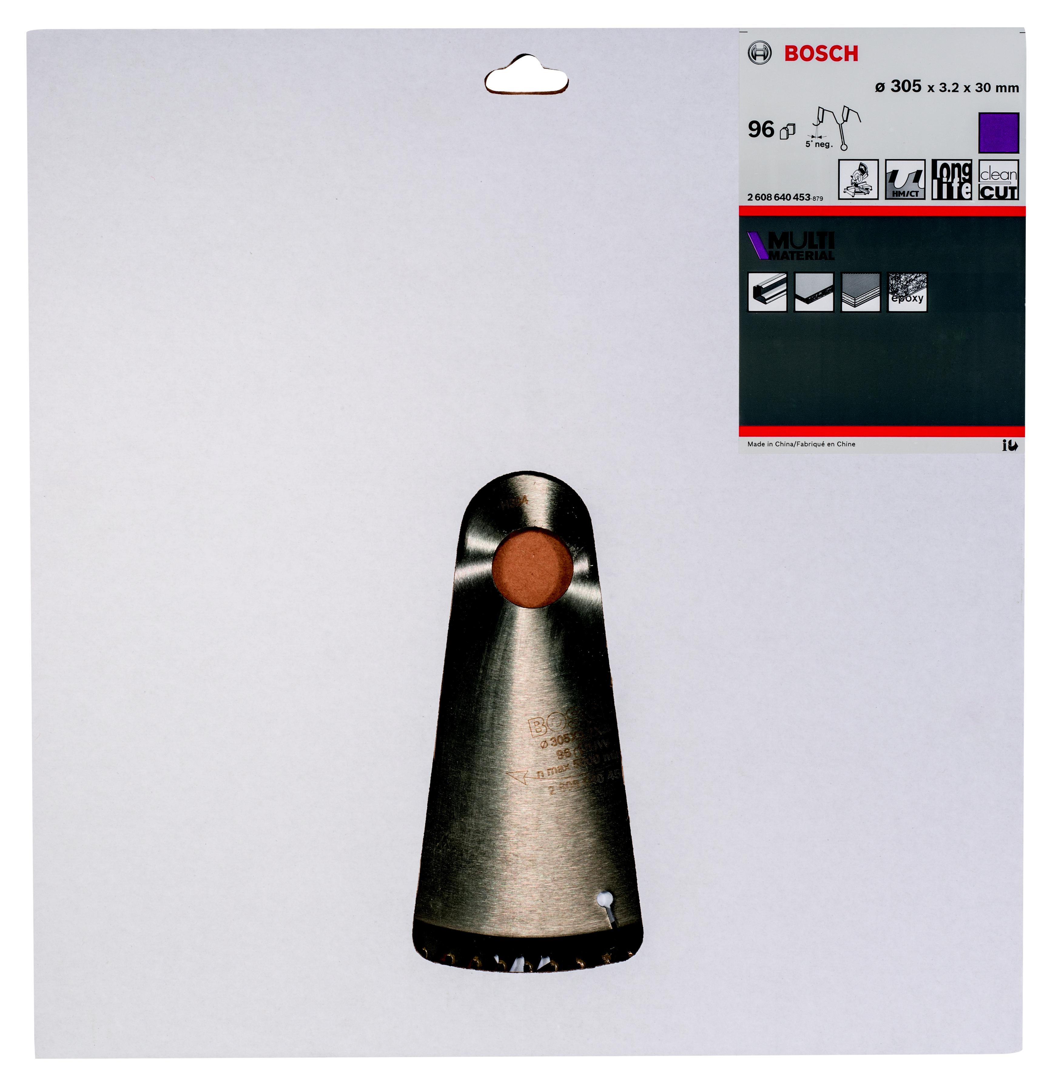 Диск пильный твердосплавный Bosch Multi material 305x96x30 gcm 12 (2.608.640.453) панельная пила bosch gcm 800 sj