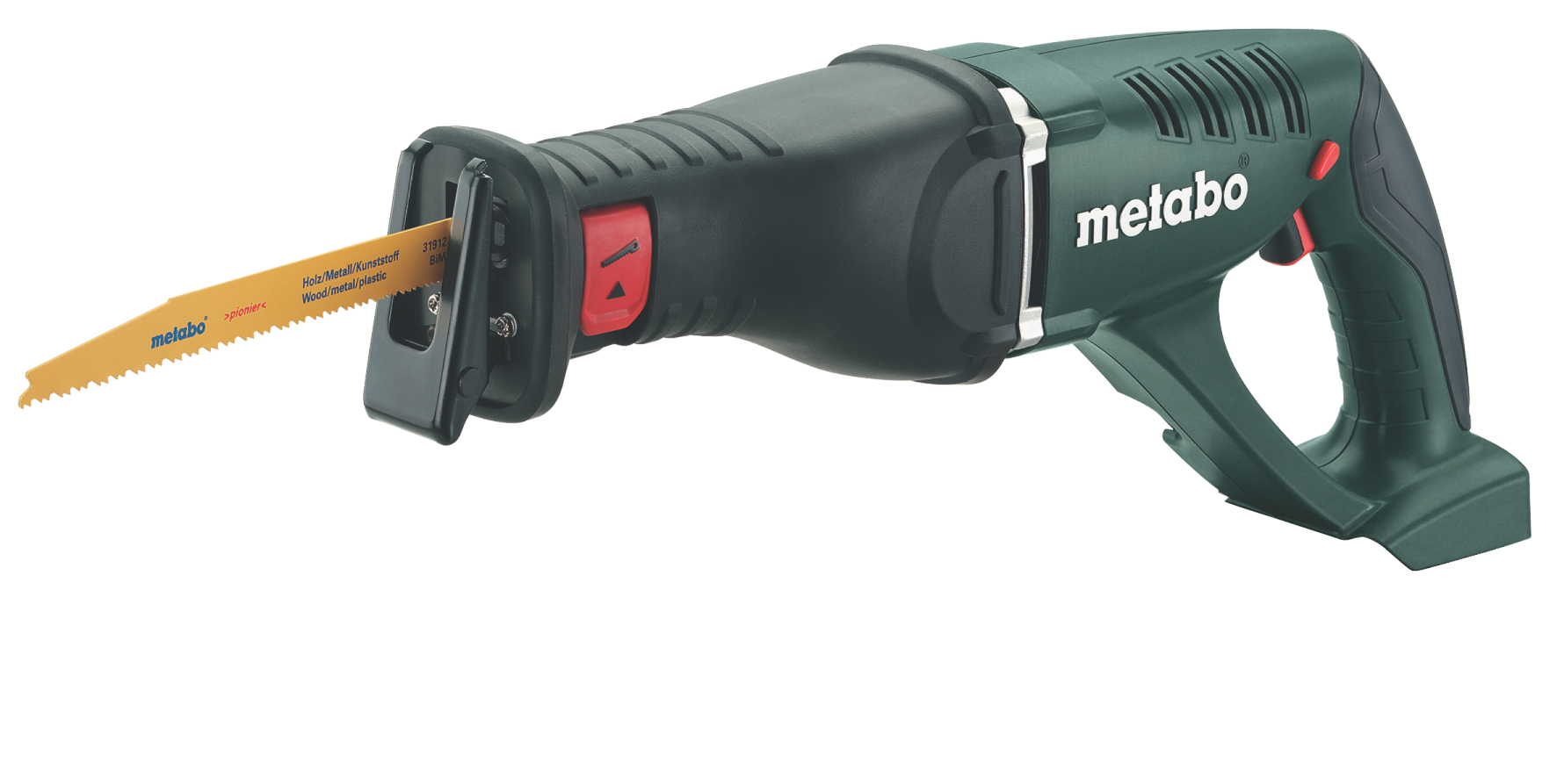 Аккумуляторная сабельная пила Metabo Ase 18 ltx (602269850) аккумуляторная ножовка metabo ase 18 ltx 602269610