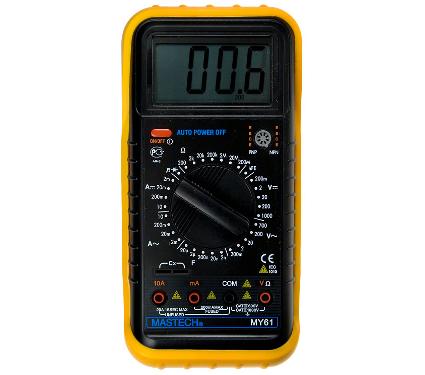 220 Вольт - Мультиметр MASTECH MY61 цифровой.