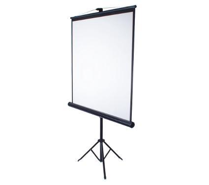 Экран KROMAX LINEN-4 white (11004)