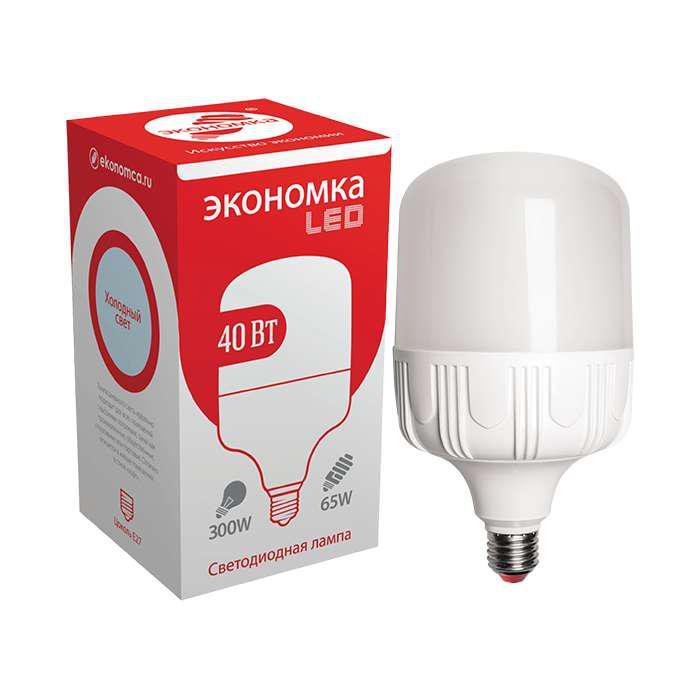 Лампа ЭКОНОМКА Eco40whwlede2765