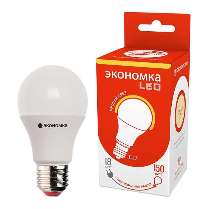 Лампа ЭКОНОМКА Eco80whwlede4065_2 лампа светодиодная экономка космос eco