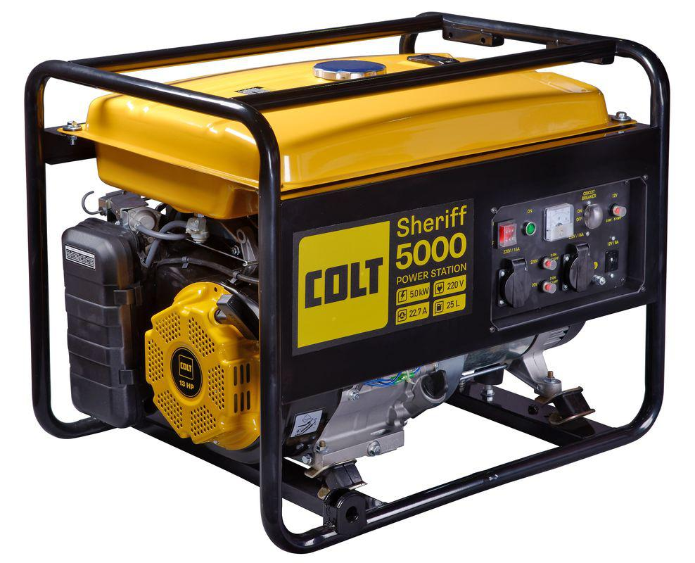 Купить со скидкой Бензиновый генератор Colt Sheriff 5000 (499301)
