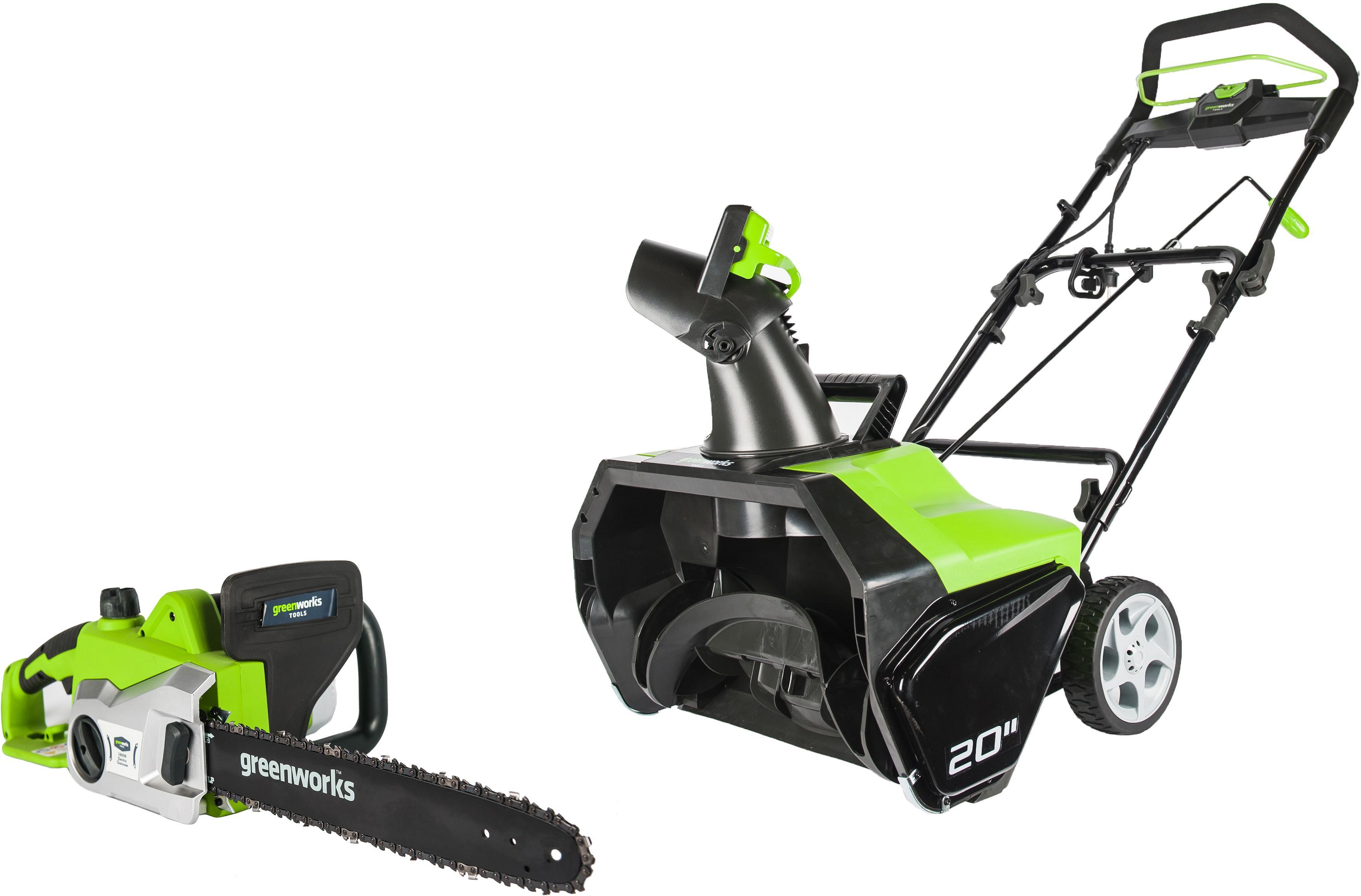 Набор Greenworks Снегоуборщик gst1851 (2600507) +Пила цепная gcs1836 (20217)