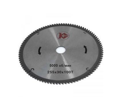 Диск пильный твердосплавный КАЛИБР Ф255х30мм 100зуб. (26649)