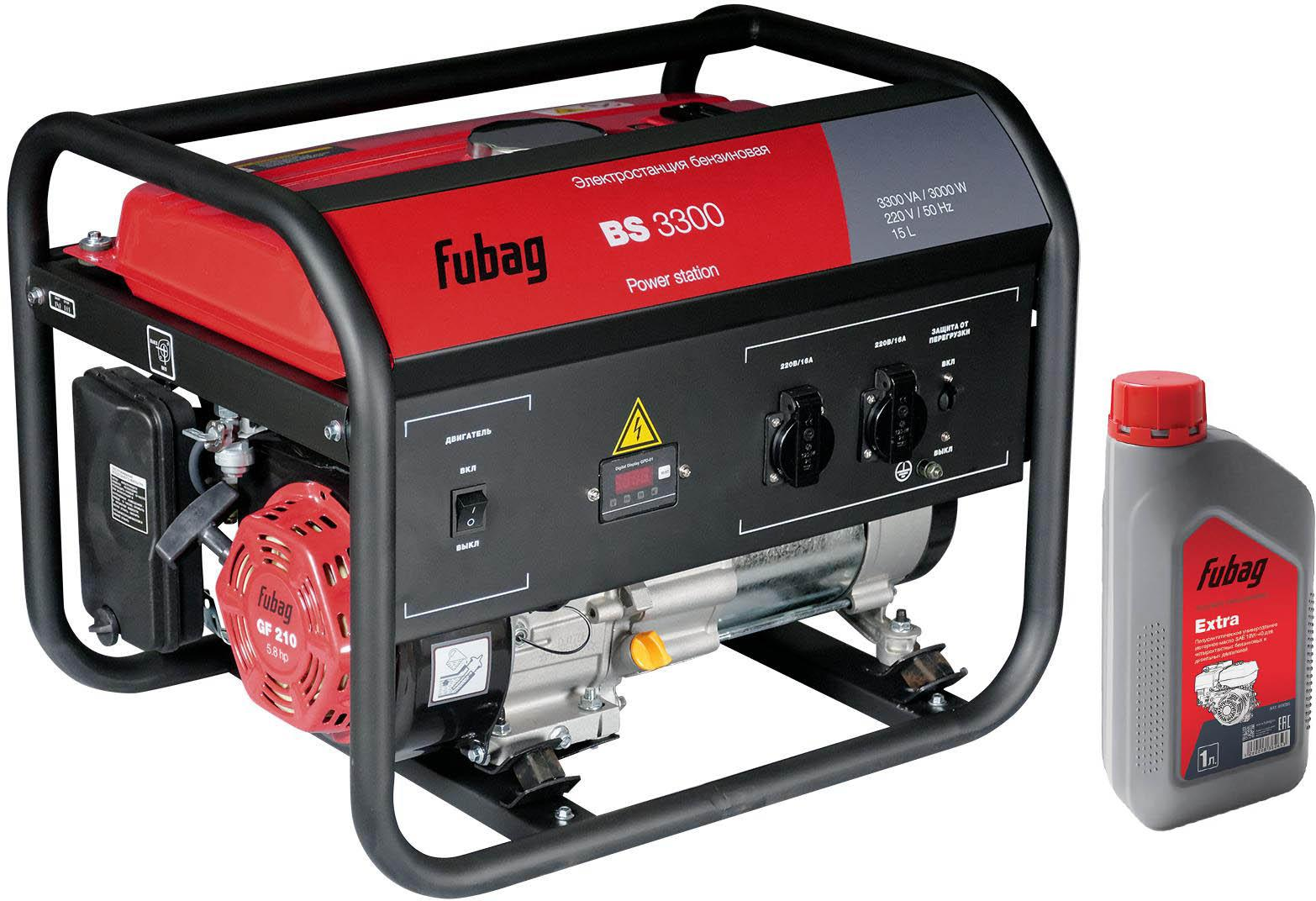 Бензиновый генератор Fubag Bs 3300 +Масло моторное extra 838265 все цены