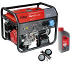 Бензиновый генератор FUBAG BS 6600 A ES +Колеса Startmaster BS 7500 +Масло моторное Extra 838265