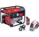 Бензиновый генератор FUBAG WHS 210 DC +Колеса Startmaster BS 7500 +Масло моторное Extra 838265 +Маска BLITZ 9.13 Visor