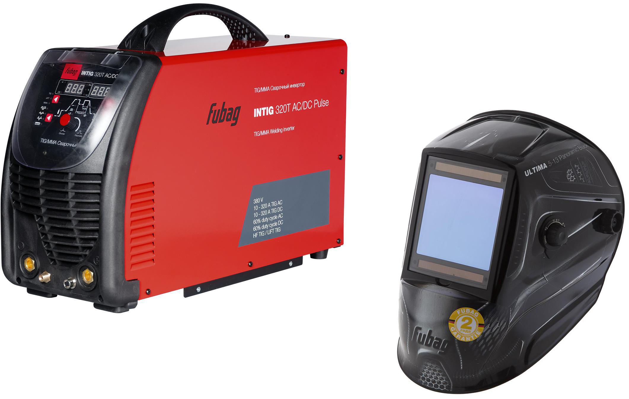 Набор Fubag Инвертор intig 320 t ac/dc pulse (38431) +Маска ultima 5 – 13 panoramic black сварочный инвертор fubag intig 180 dc pulse 38025 2