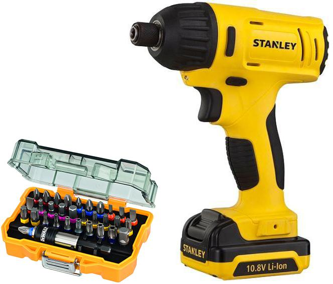 Набор Stanley Гайковерт аккумуляторный sci12s2-ru +Набор бит dt7969qz