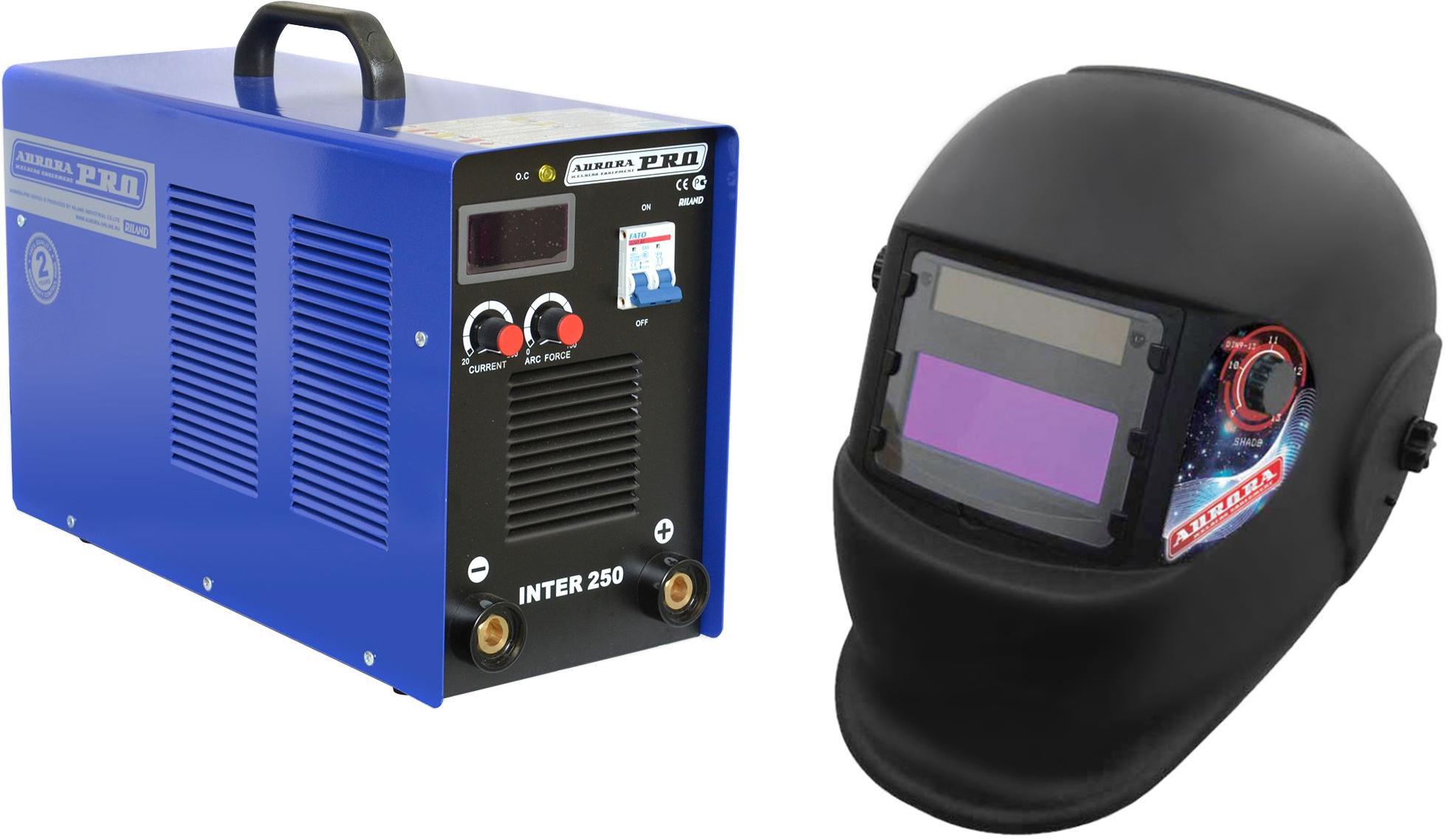 Купить Набор Aurora pro Сварочный аппарат inter 250 mosfet +Маска a998f(9-13din) black cosmo, Китай