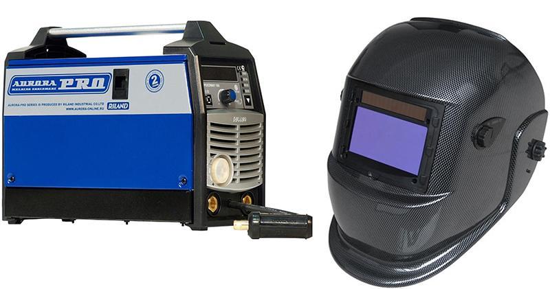 Набор Aurora pro Сварочный полуавтомат speedway 160 igbt +Маска s777c (9-13din) carbon сварочный полуавтомат aurora pro speedway 160 igbt 6700вт 120 220в mma tig mig mag 32а 200мм