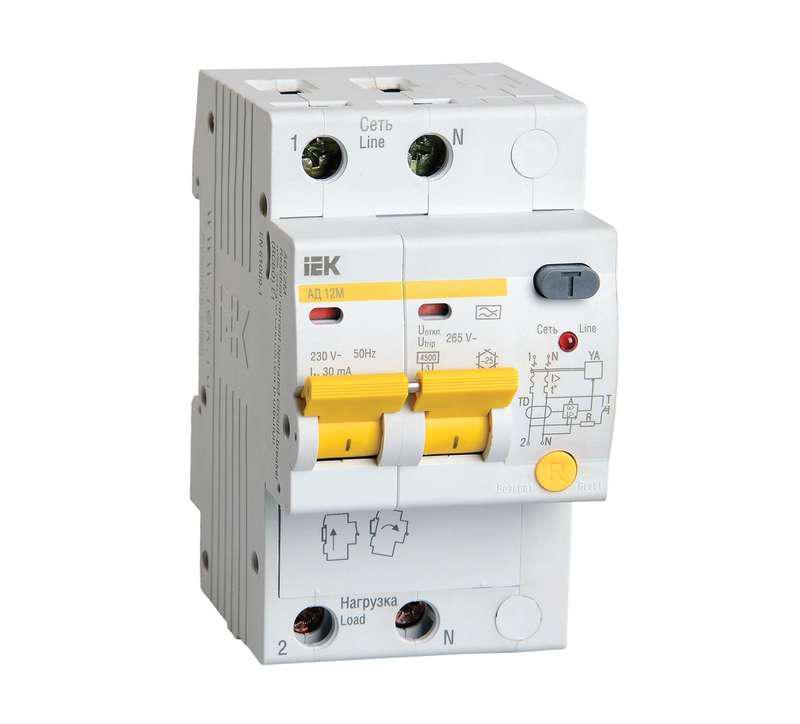Диф. автомат Iek Mad12-2-040-c-030