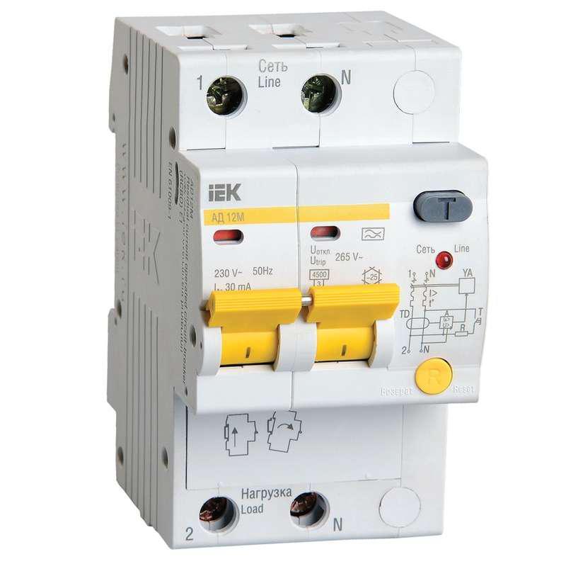 Диф. автомат Iek Mad12-2-020-c-030