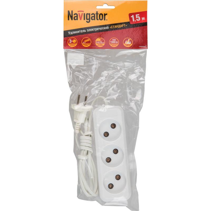 Удлинитель Navigator 71 448 npe-s1-03-150-x-2x0.75