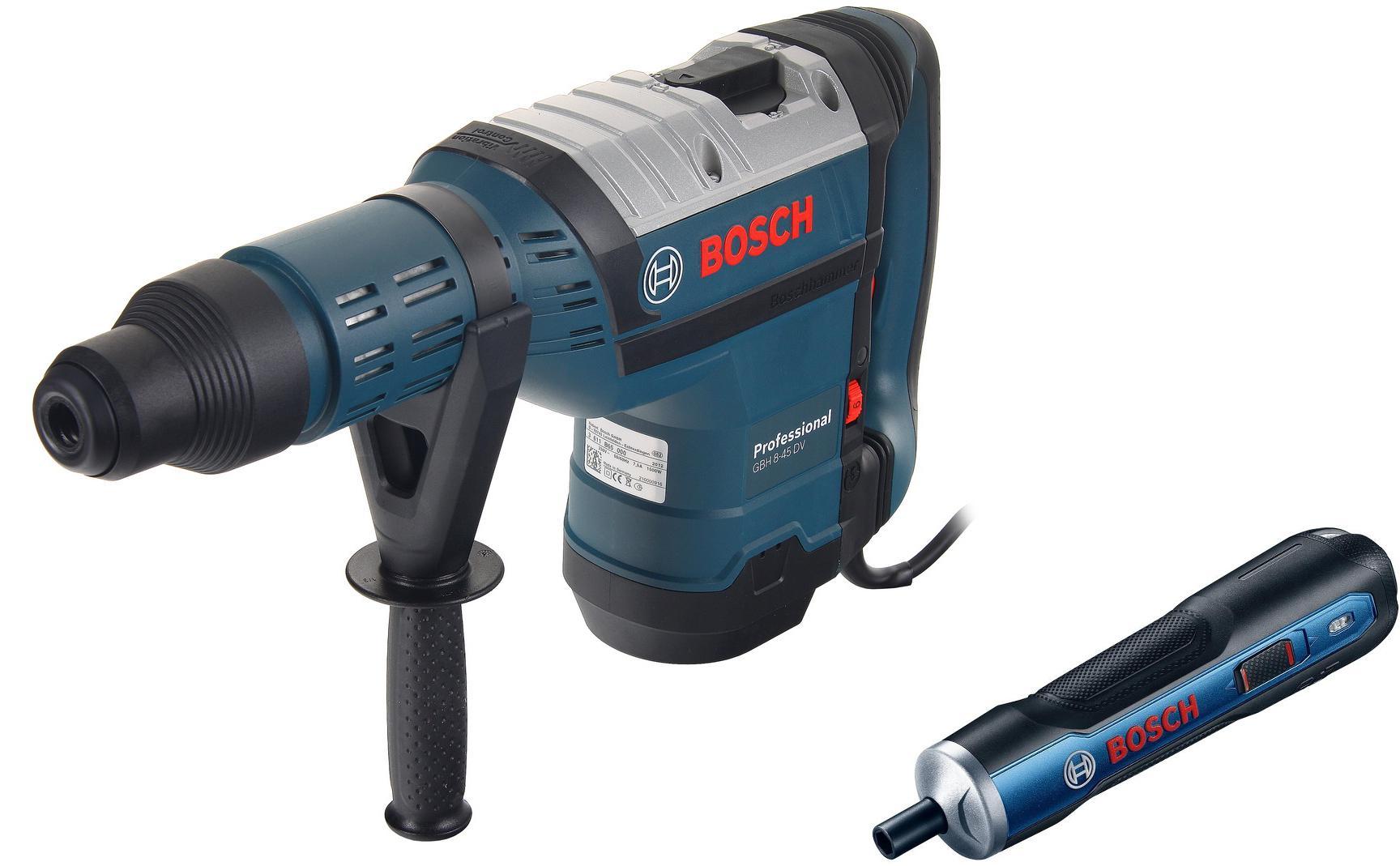 Набор Bosch Перфоратор gbh 8-45 dv (0.611.265.000) +Отвертка аккумуляторная go solo (0.601.9h2.020)