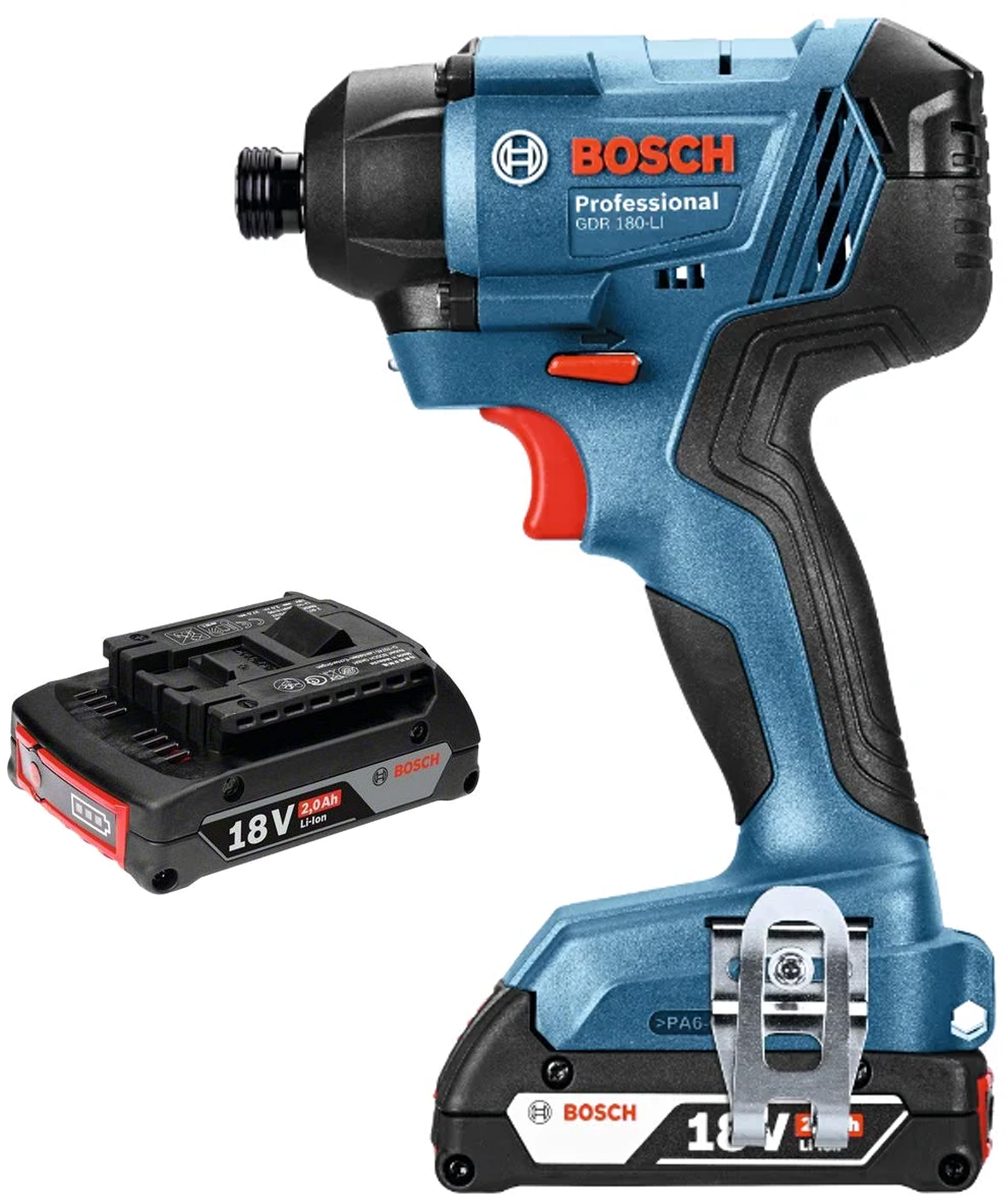 Набор Bosch Гайковерт аккумуляторный gdr 180-li (0.601.9g5.120) +Аккумулятор 1600z00036 аккумулятор