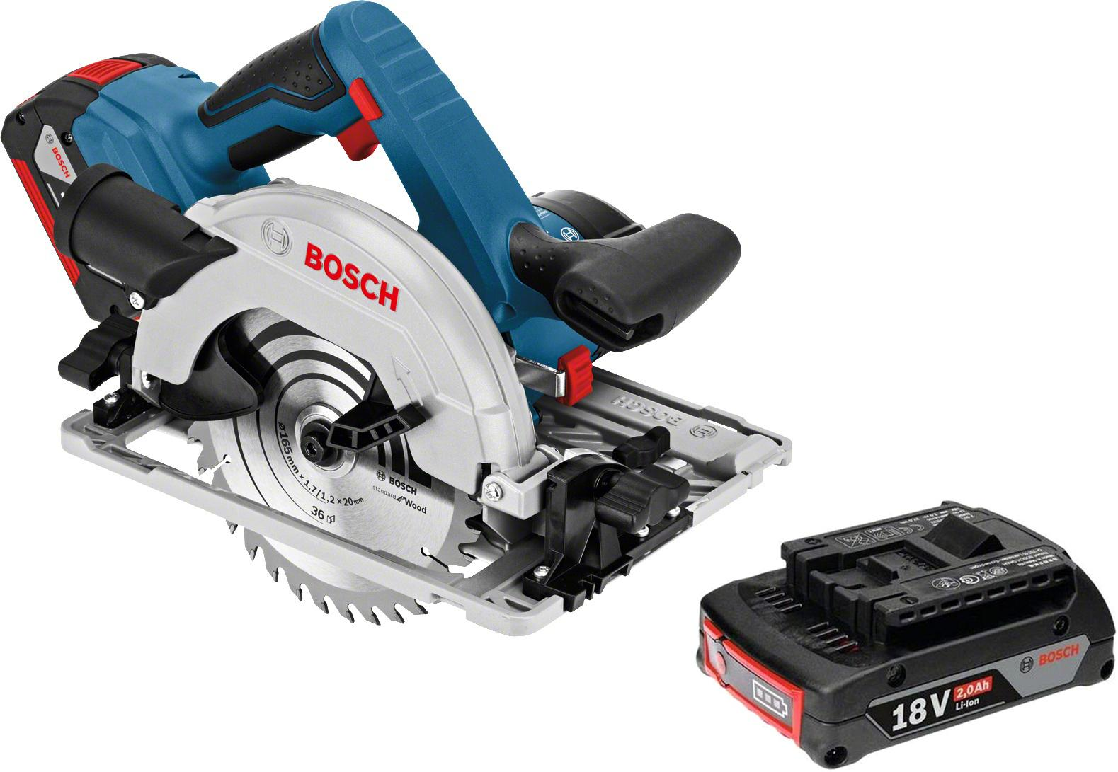 Набор Bosch Пила циркулярная gks 18 v-li g l-boxx (0.601.6a2.100) +Аккумулятор 1600z00036 аккумулятор
