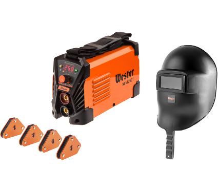 Набор WESTER Сварочный аппарат MINI 250T +Маска WH1 +Угольник магнитный MCS