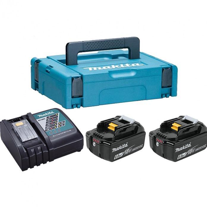 Фото - Набор аккумуляторов и ЗУ Makita 18В 6Ач li-ion (6Ач 2шт + ЗУ (198118-0)) набор bosch аккумулятор 18в 6ач li ion pba 1600a00dd7 рюкзак 1 619 m00 k04