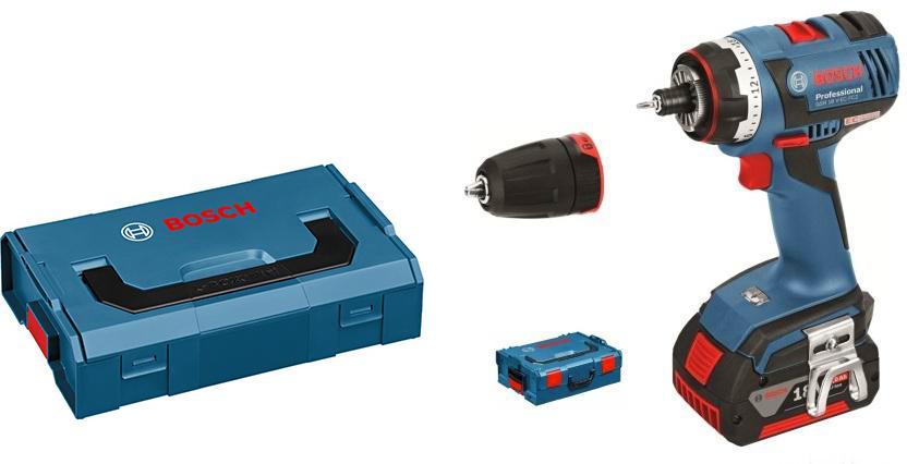 Набор Bosch Дрель аккумуляторная gsr 18v-ec fc2 (0.601.9e1.105) +Ящик l-boxx mini (1.600.a00.7sf), Дрель аккумуляторная gsr 18v-ec fc2 (0.601.9e1.105) +Ящик l-boxx mini (1.600.a00.7sf)