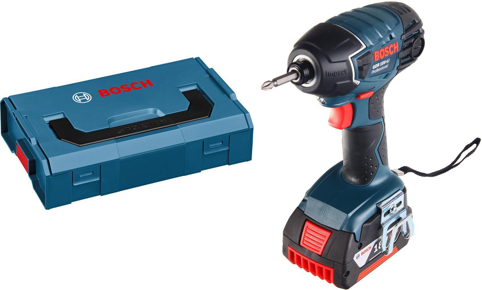 Набор Bosch Гайковерт аккумуляторный gdr 18 v-li 4.0Ач (0.601.9a1.30e) +Ящик l-boxx mini (1.600.a00.7sf), Гайковерт аккумуляторный gdr 18 v-li 4.0Ач (0.601.9a1.30e) +Ящик l-boxx mini (1.600.a00.7sf)