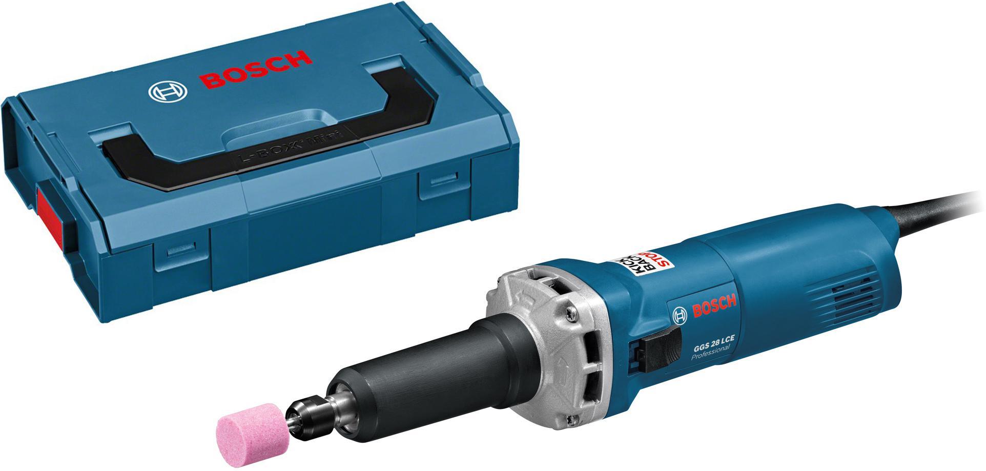 Набор Bosch Машинка шлифовальная прямая ggs 28 lce (0.601.221.100) +Ящик l-boxx mini (1.600.a00.7sf) гравер bosch ggs 28 lce professional