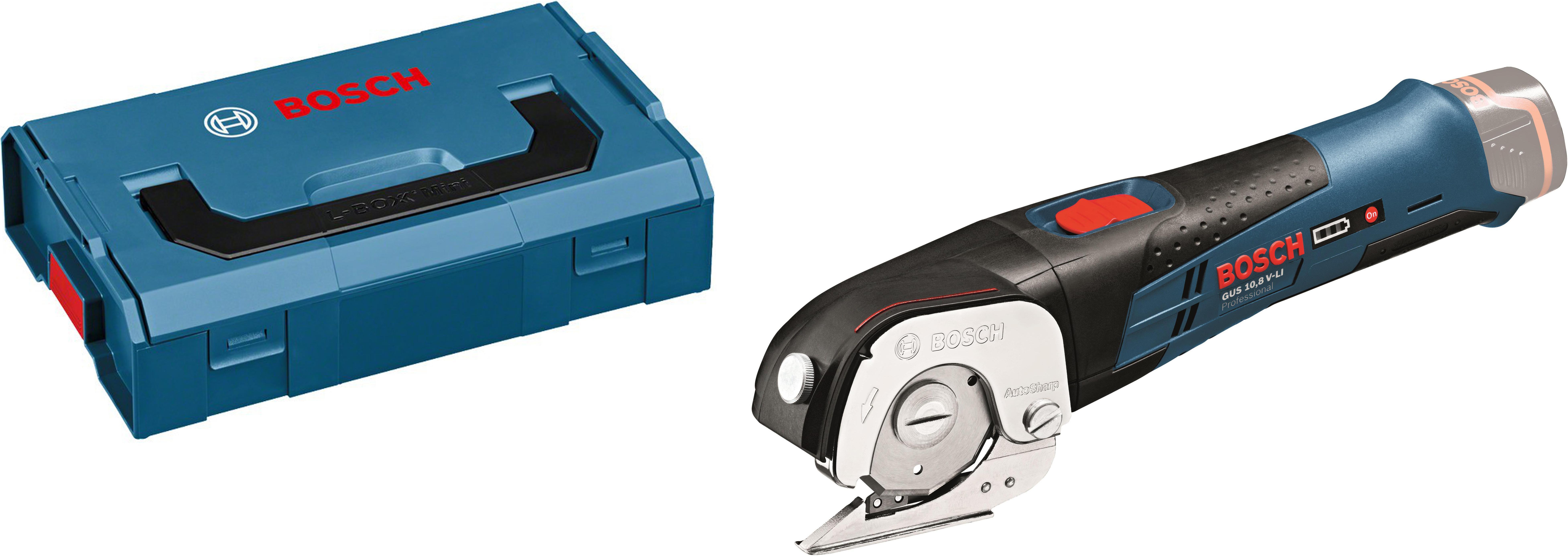 Набор Bosch Ножницы gus 10,8 v-li (0.601.9b2.901) +Ящик l-boxx mini (1.600.a00.7sf)