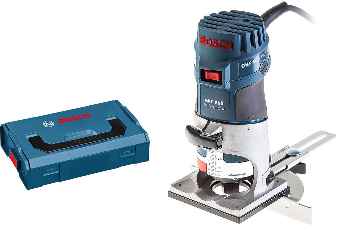 Набор Bosch Фрезер gkf 600 l-boxx (0.601.60a.102) +Ящик l-boxx mini (1.600.a00.7sf), Фрезер gkf 600 l-boxx (0.601.60a.102) +Ящик l-boxx mini (1.600.a00.7sf)