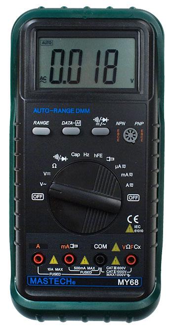 Цифровой мультиметр MASTECH MY68 - это удобное переносное устройство для измерения таких показателей...