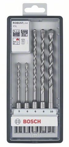 Набор буров Bosch X5l/plus-7 sds+ 5.5/6/7/8/10x165 (2.607.019.933) сверло sds plus 7 10x250x315 мм 10 шт bosch 2608587177