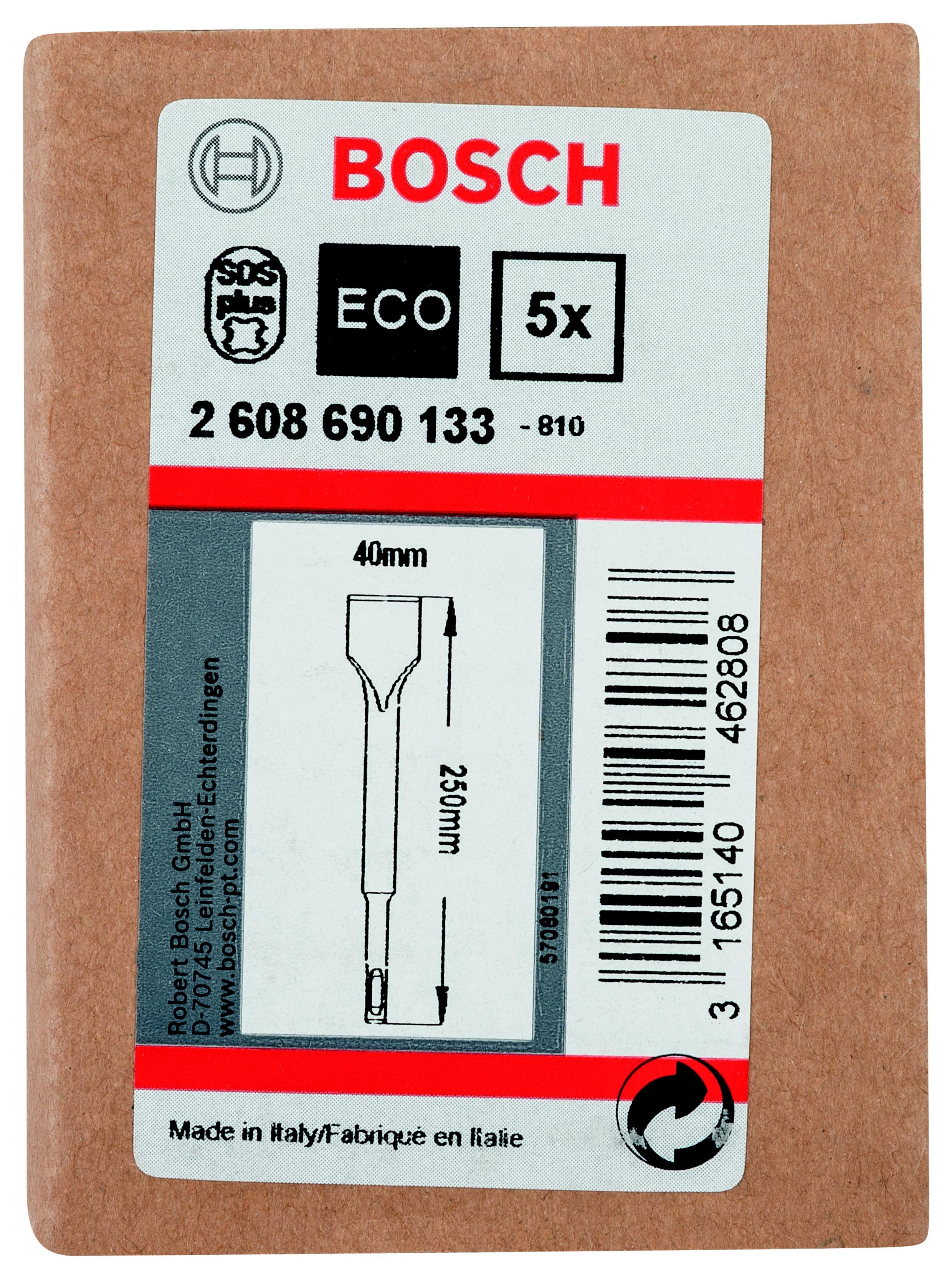 Зубило Bosch Sds+ 40x250 лопаточное, 1шт. (2.608.690.ать) зубило messer 10 03 250 широкое для перфоратора sds plus 40x250 мм