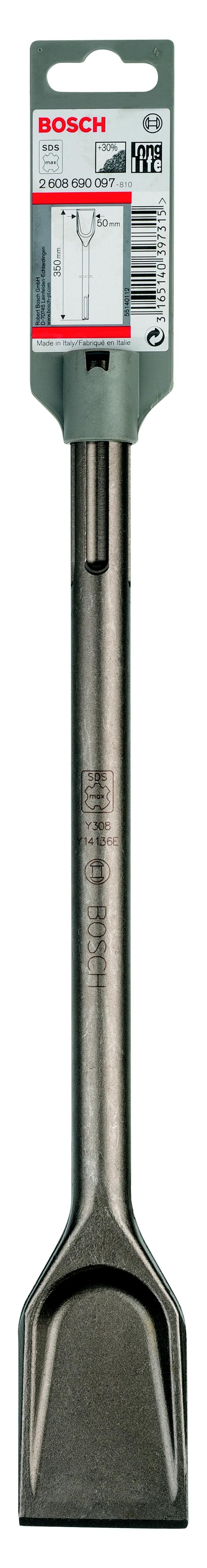 Купить Зубило Bosch Sdsmax 50x350 longlife лопаточное самозатачивающееся (2.608.690.097), Германия