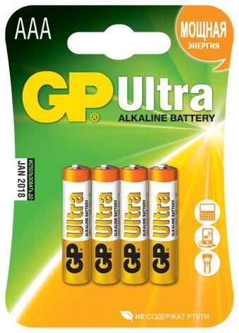 Батарейка Gp 24au-bc4 ultra 4шт элемент питания gp ultra ааа с магнитом 4 шт