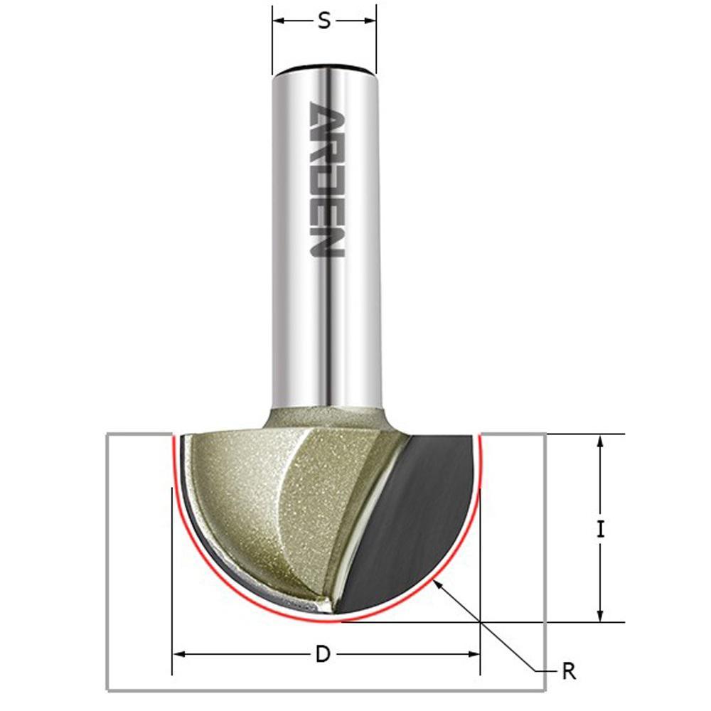 Фреза Arden Ф9.5мм s8мм i6.4мм (203806) фреза arden 210251