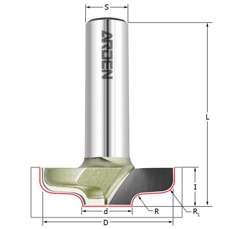 Фреза Arden Ф12.5мм s12мм i9.5мм (416251)